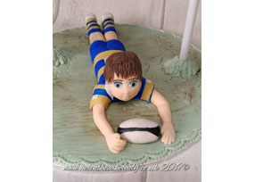 Rugby Player Cake Topper