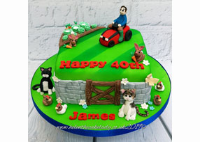 Ride-on Lawnmower Cake